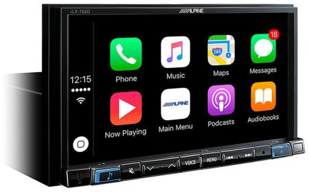 "Alpine 7"" érintőképernyős Carplay, Android multimédia ILX-702LEON"