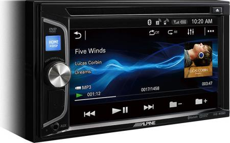 "Alpine 6,2"" CD/DVD/R/-RW/WMA/MP3/DivX érintőképernyős multémédia IVE-W560BT"